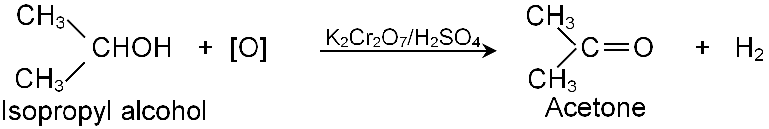 Formation Of Acetone From Isopropyl Alcohol