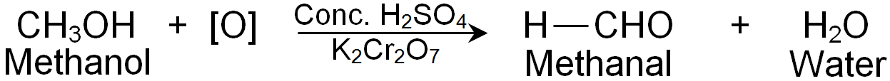 Formation Of Methanal By Oxidation Of Methanol