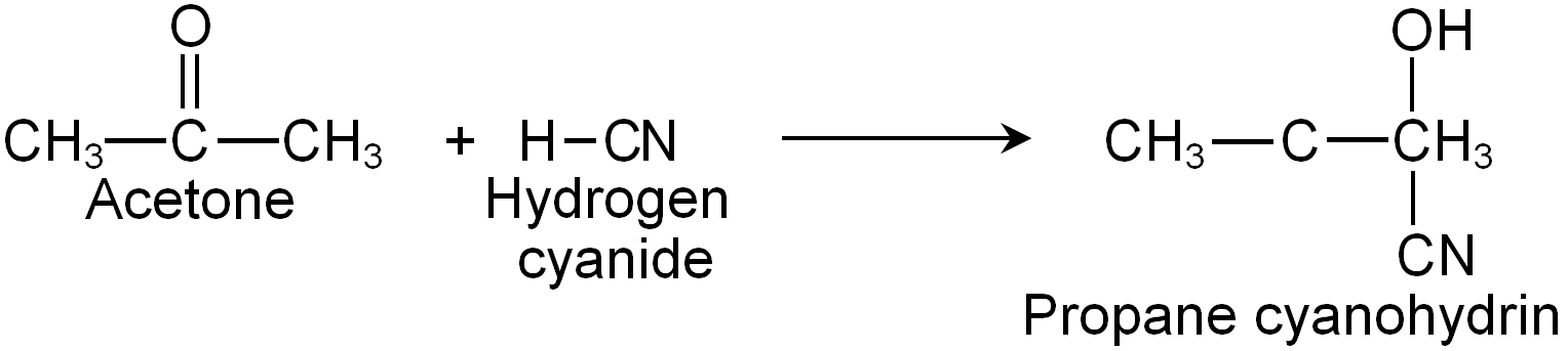 Reaction Of Acetone With Hydrogen Cyanide