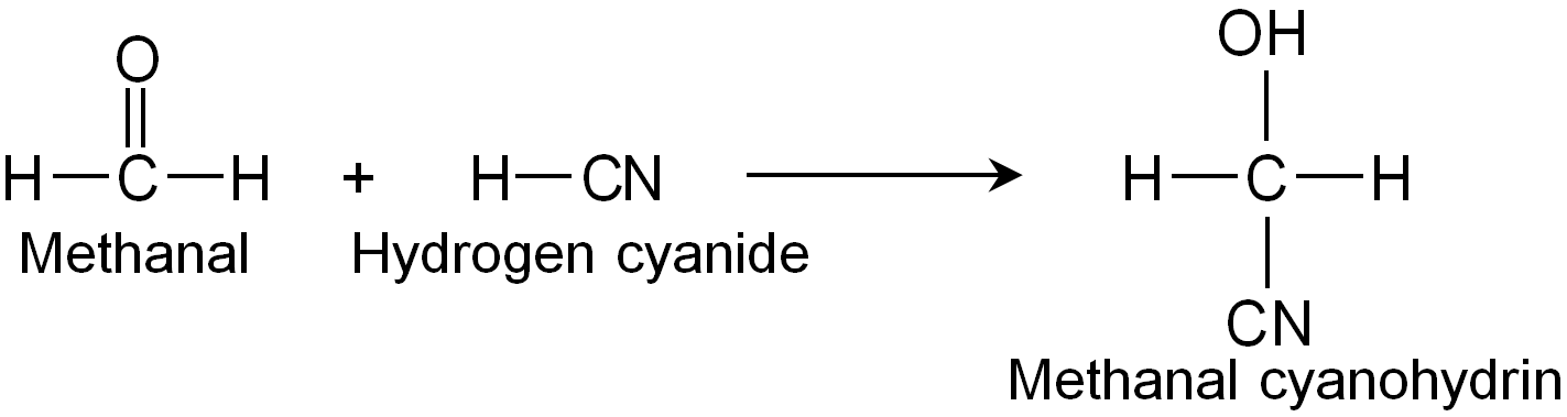 Reaction Of Methanal With Hydrogen Cyanide