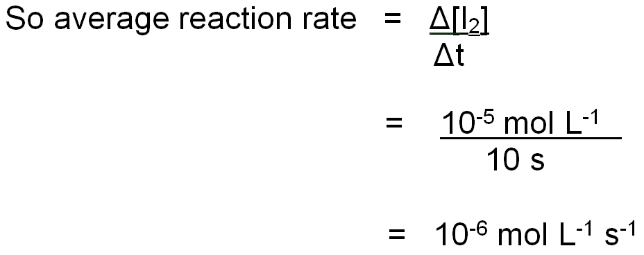 Rate of reaction formula?