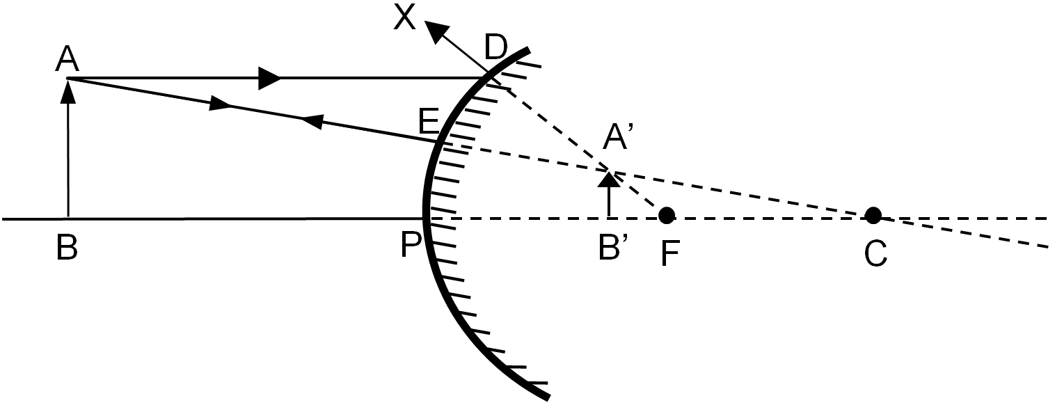 Formation of image by a convex mirror when the object is placed anywhere between pole and infinity pooptronica