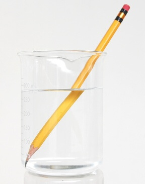 Image Of Pencil In Glass Of Water